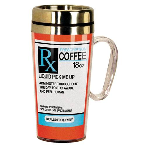prescription coffee travel mug