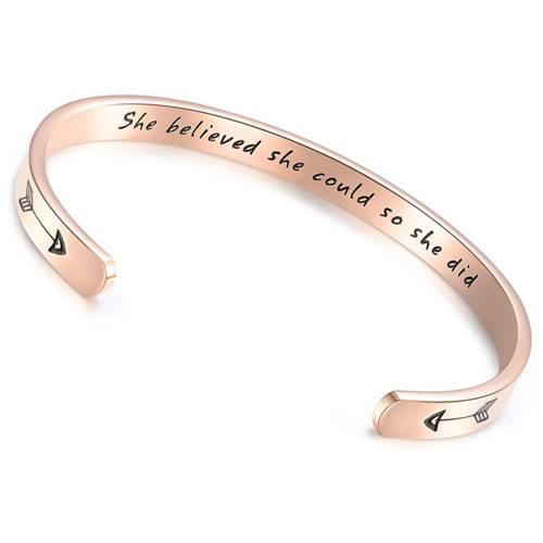 inspirational bracelet gift