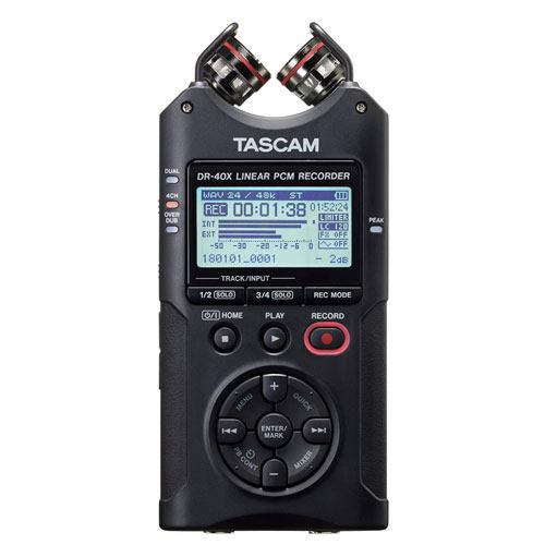 tascam dr-40x digital audio recorder