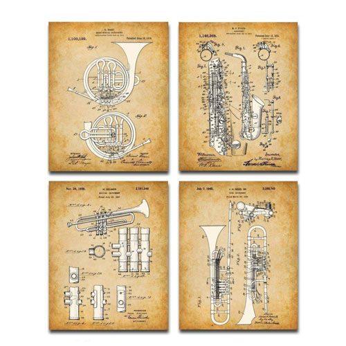 trumpet patent prints