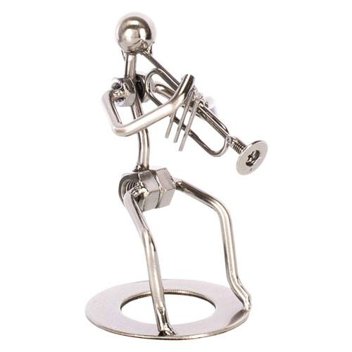 trumpet player figurine