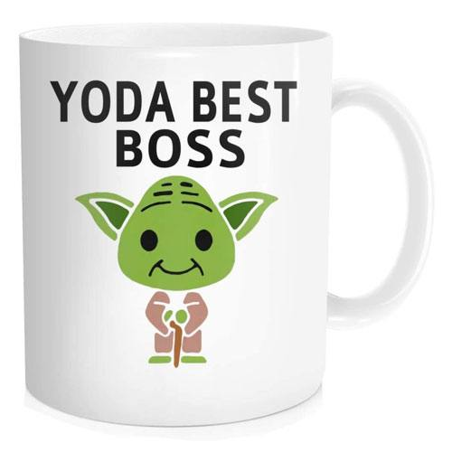 yoda best boss mug