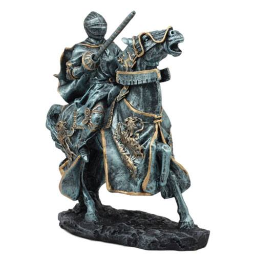 jousting knight statue