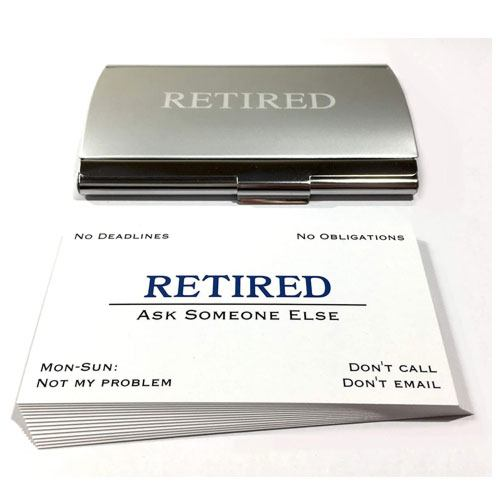 out of business retirement cards