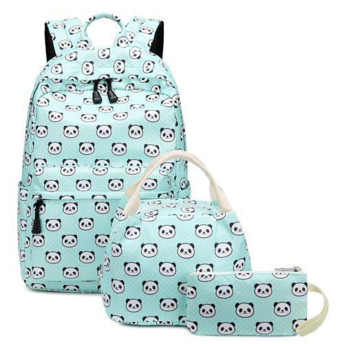 panda backpack set