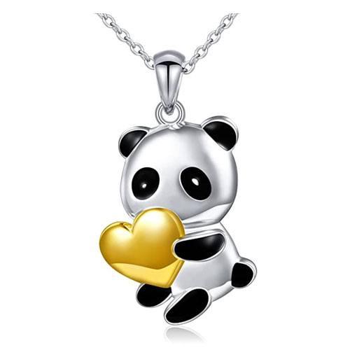 panda heart necklace