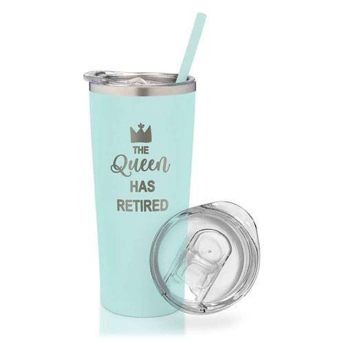 queen has retired tumbler