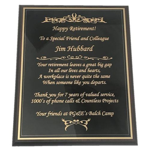 personalized goodbye plaque