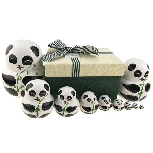 russian doll panda set