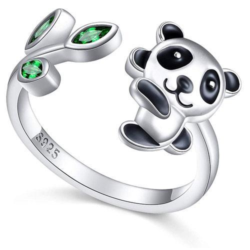 sterling silver panda ring