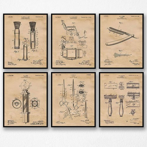 vintage barber patent posters