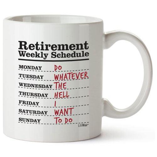 weekly schedule mug