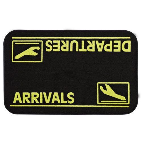 arrivals & departures doormat