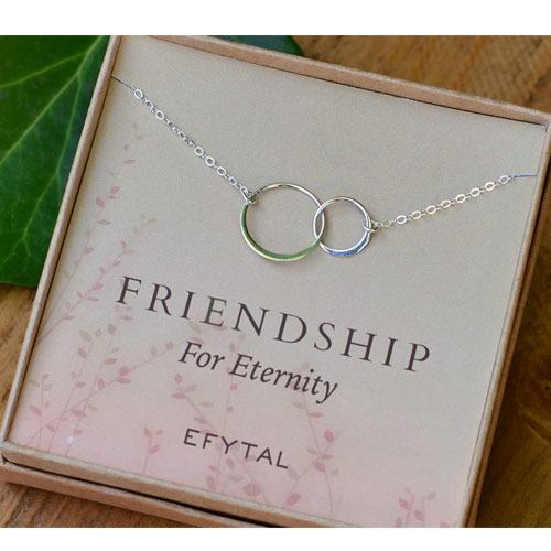 best friends eternity necklace