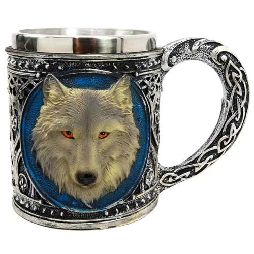 celtic wolf mug gift