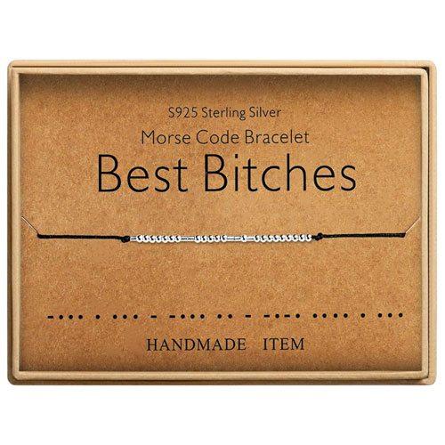 best bitches morse code bracelet