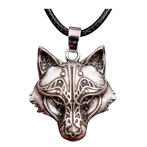 viking wolf pendant necklace