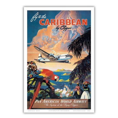 vintage pan american poster