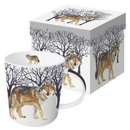 winter wolf mug gift