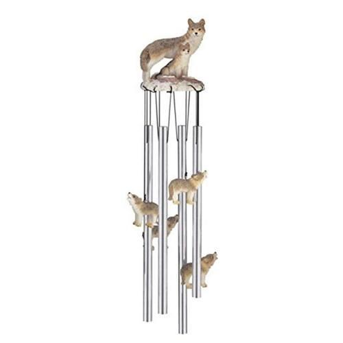 wolf garden wind chime