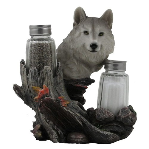 wolf salt & pepper shaker