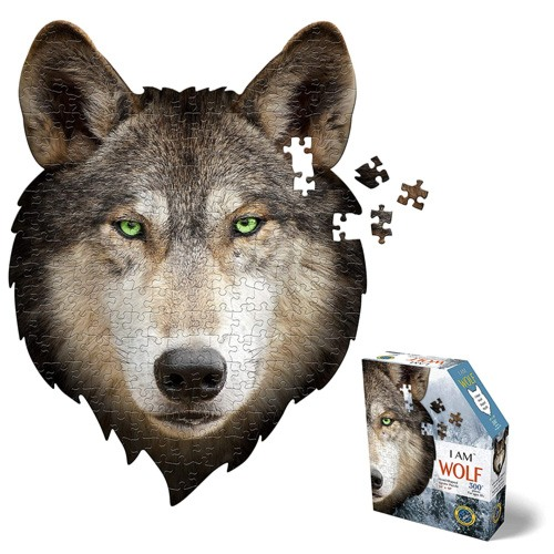 wolf shaped jigsaw