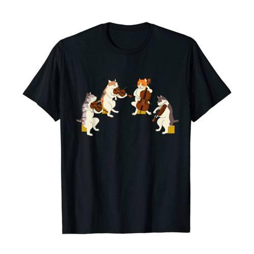 cats playing violin shirt