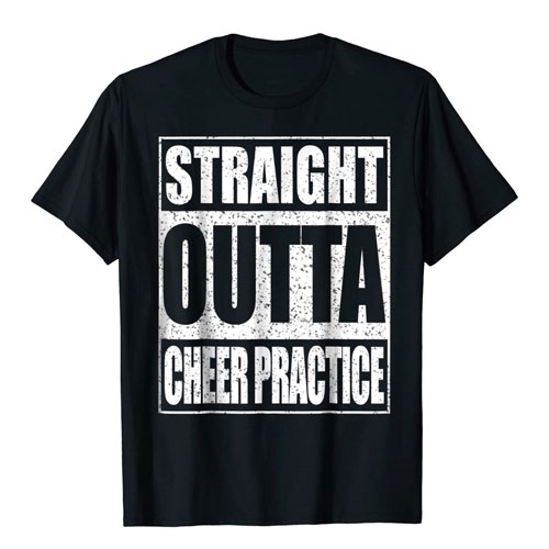 cheerleader practice shirt