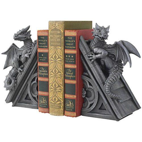 book dragon statues