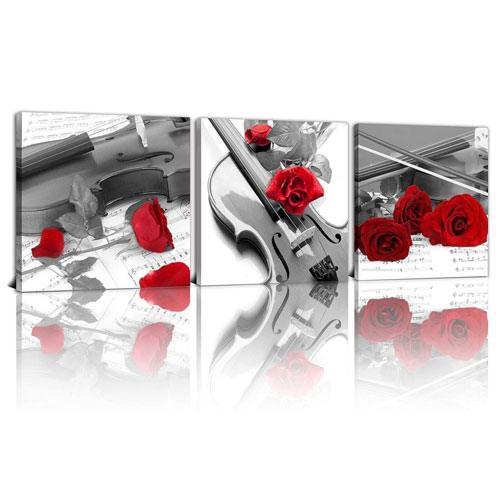 violin canvas art