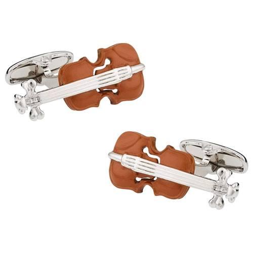 violin cufflinks present