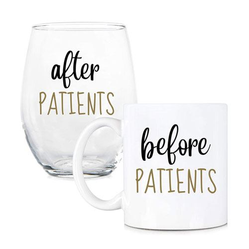 before & after patient cups