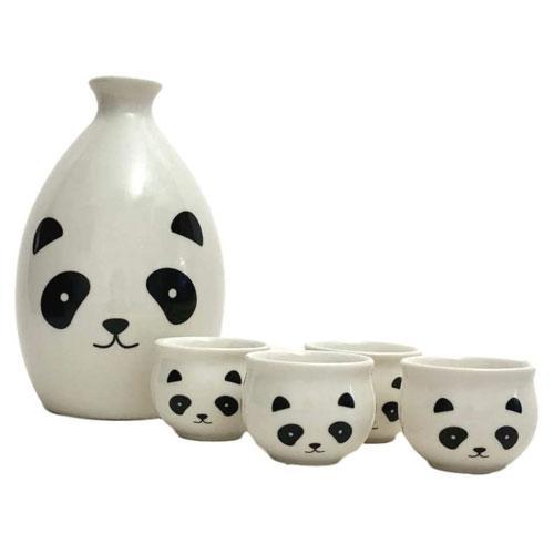 cute panda sake set