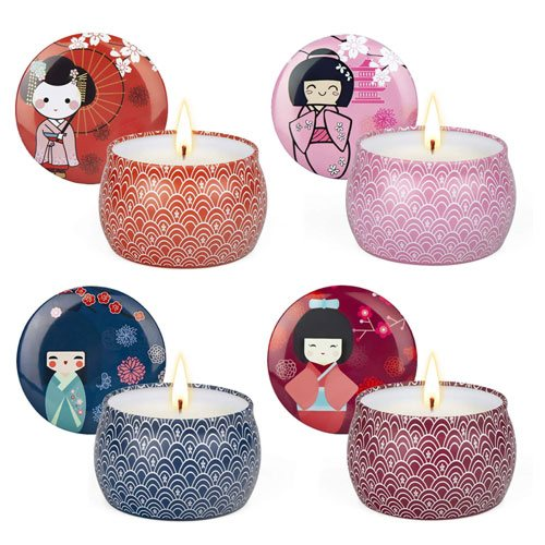 japanese scented aromatherapy candles