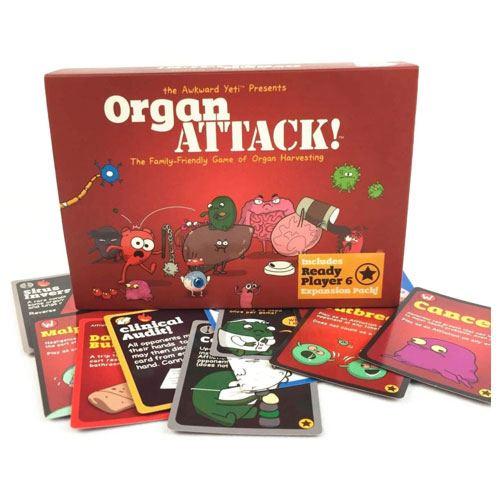 organ attack board game