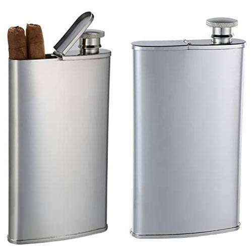 personalized cigar flask