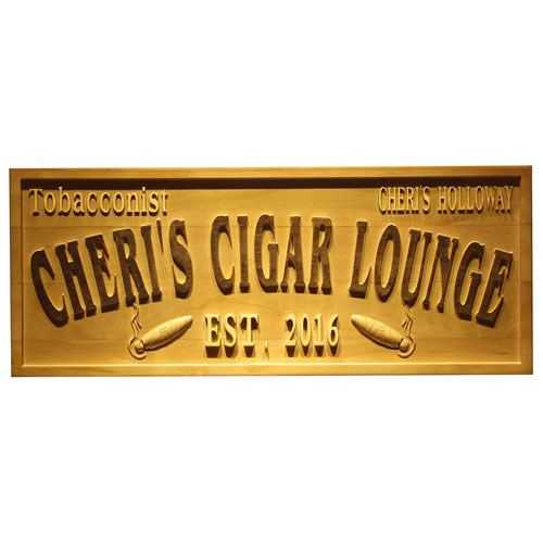 personalized cigar name plate