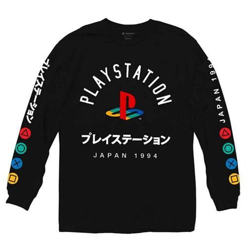 playstation logo long sleeve shirt