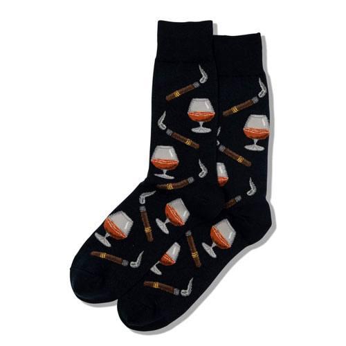 cigar & whiskey novelty socks
