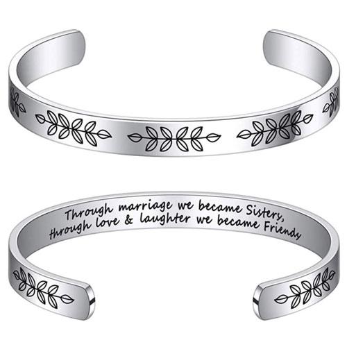 engraved sister in law bracelet