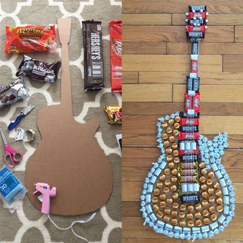 handmade candy guitar