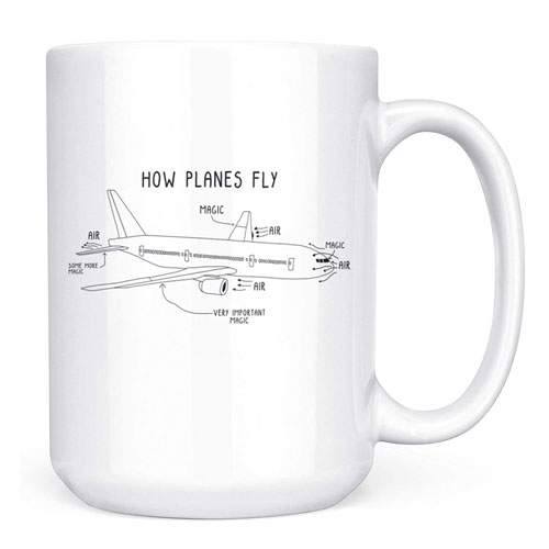 how planes fly coffee mug
