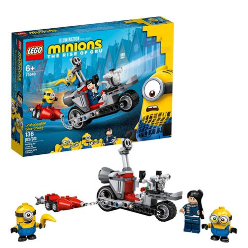 minions bike chase LEGO set