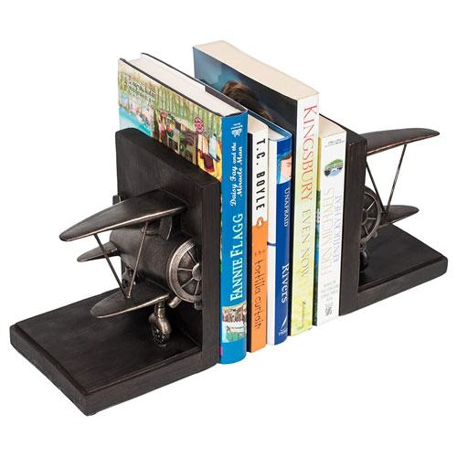 airplane bookends set