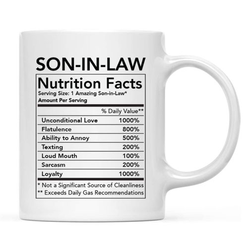 nutritional facts mugs