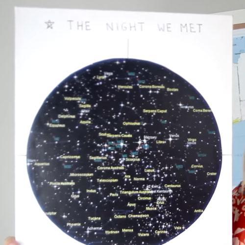 DIY star map idea