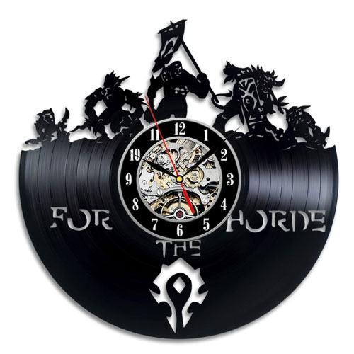 vinyl horde clock