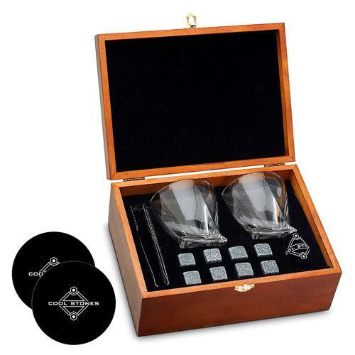 whiskey stones glasses set
