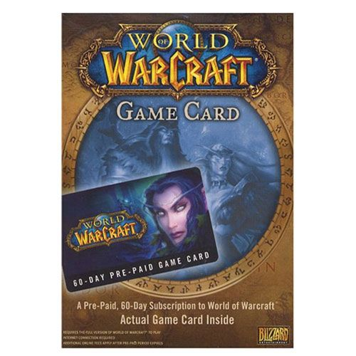 wow pre paid game time card