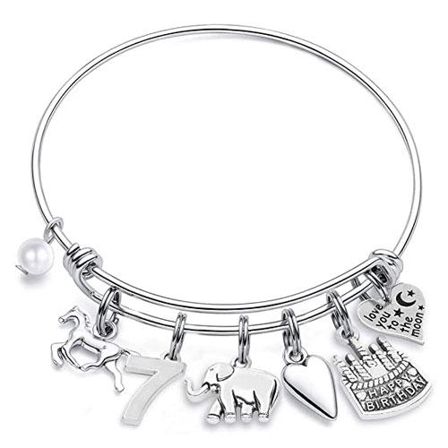 birthday bracelet gift for 7 year old girls